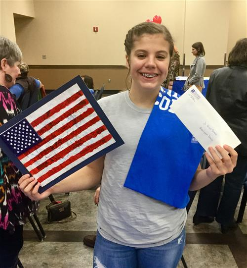 Sabine Middle School student Ashlynn Davis was honored at Kilgore College's annual  Veterans Appreciation event on Nov. 12th. She won the Junior High division of the Veteran's Day Art Contest sponsored by Kilgore College....