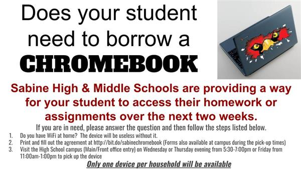 Student Chromebook Loaners for HS & MS