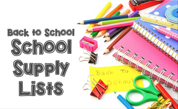 School Supply Lists for 2017-2018