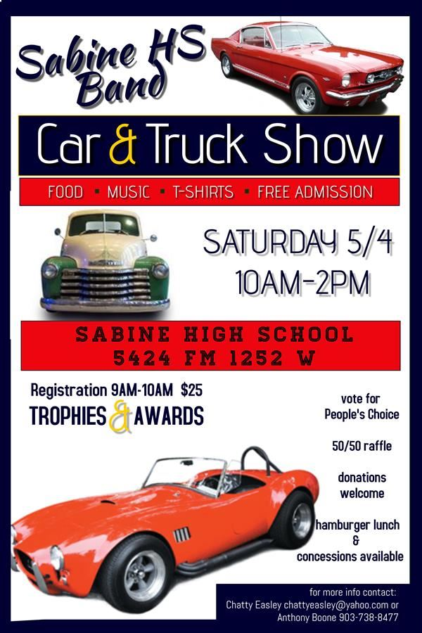 Sabine HS Band Car & Truck Show