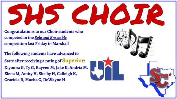SHS Choir News