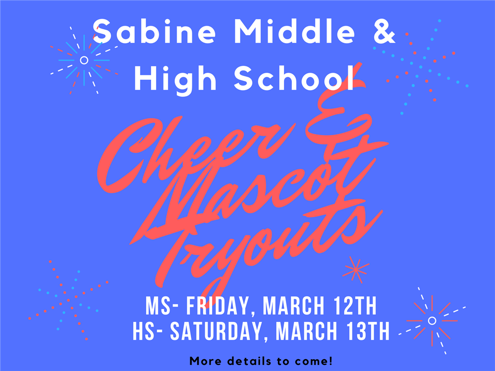 Cheer and Mascot Tryouts March 13