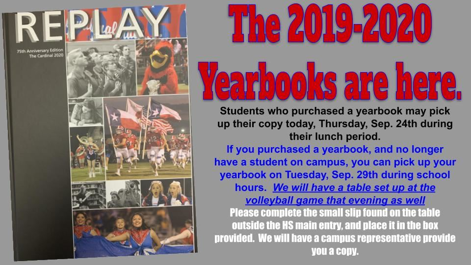2019-20 Yearbooks are here